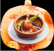 骨付きチキンと野菜の<br>オリエンタルスープカレー