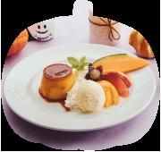 かぼちゃプリン<br>ア・ラ・モード